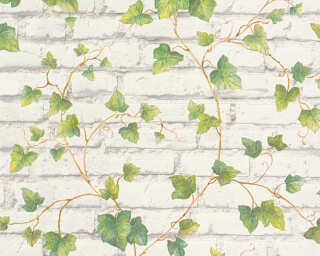 A.S. Création Wallpaper «Stone, Brown, Green, White» 319421