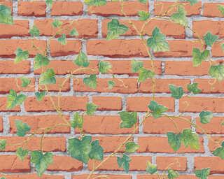 A.S. Création papier peint «Pierre, gris, marron, vert» 319422