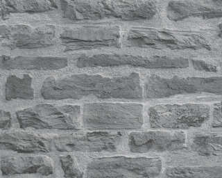 A.S. Création Wallpaper «Stone, Blue, Grey» 319442