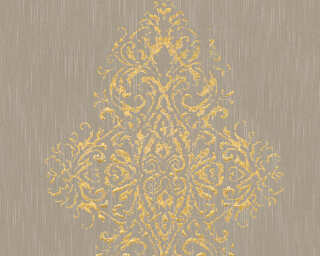 Architects Paper non-woven wallpaper «Uni, Beige, Gold, Metallic» 319453