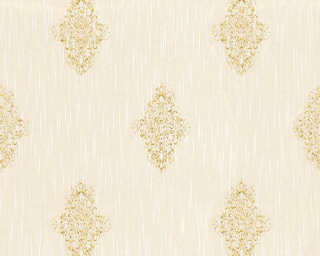 Architects Paper Wallpaper «Uni, Cream, Metallic» 319462