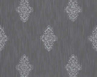 Architects Paper Wallpaper «Uni, Blue, Metallic, Silver» 319464