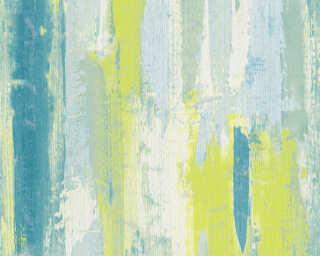 Lutèce Обои «Полосы, Бирюзовые, Зеленые, Кремовые, Синие» 319493