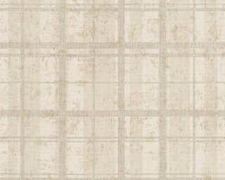 A.S. Création papier peint «Maison, beige, crème, métallique, or» 319922