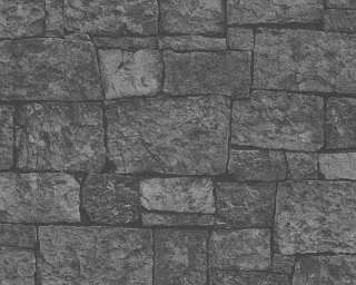 A.S. Création Wallpaper «Stone, Black, Grey» 319942