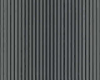 A.S. Création papier peint «Rayures, gris, métallique, noir» 319966