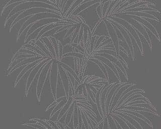 A.S. Création papier peint «Floral, multicolore, métallique, noir» 319982