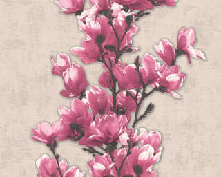 A.S. Création Tapete «Blumen, Beige, Violett» 321391