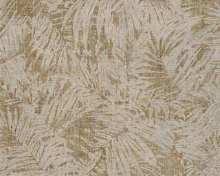 A.S. Création non-woven wallpaper «Floral, Brown, Metallic, Silver» 322633