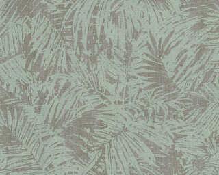 A.S. Création non-woven wallpaper «Floral, Green, Grey, Metallic» 322635