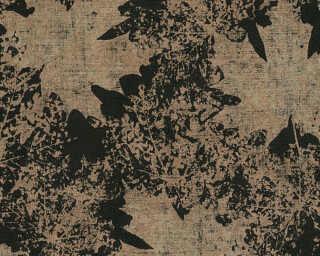 A.S. Création non-woven wallpaper «Floral, Black, Gold, Metallic» 322641
