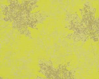 A.S. Création papier peint «Floral, argent, bronze, métallique, vert» 322642
