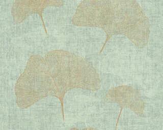 A.S. Création Обои «Флора, Зеленые, Металлик, Серебро» 322652