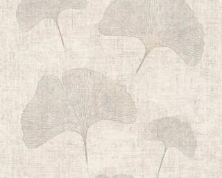 A.S. Création Обои «Флора, Бежевые, Металлик, Серебро» 322653