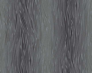 A.S. Création Wallpaper «Uni, Black, Grey, Metallic, Silver» 324731