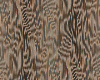 A.S. Création Wallpaper «Uni, Black, Brown, Gold, Metallic» 324734