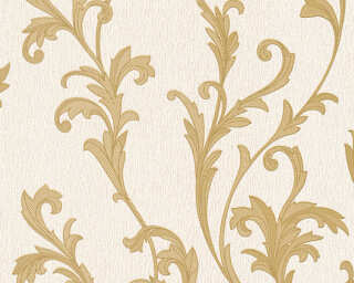 A.S. Création Wallpaper «Baroque, Beige, Cream, Gold, Metallic» 324762