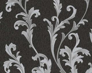 A.S. Création papier peint «Baroque, argent, gris, métallique, noir» 324765