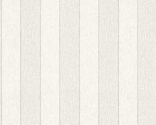 A.S. Création Wallpaper «Stripes, Metallic, White» 324773