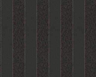 A.S. Création papier peint «Rayures, métallique, noir» 324774