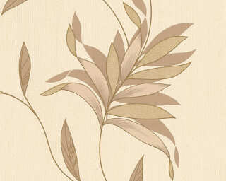 A.S. Création Wallpaper «Floral, Beige, Brown, Gold, Metallic» 325222
