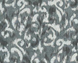 A.S. Création papier peint «Baroque, blanc, bleu, noir» 325801