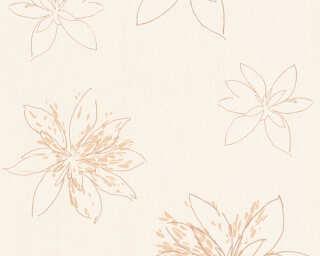 A.S. Création papier peint «Fleurs, beige, bronze, marron, métallique» 325822