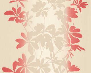 A.S. Création Обои «Флора, Бежевые, Красные, Металлик» 325844