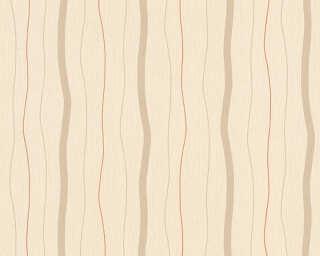 A.S. Création papier peint «Rayures, beige, cuivre, marron, métallique» 325852