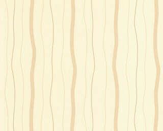 A.S. Création papier peint «Rayures, bronze, jaune, marron, métallique» 325855