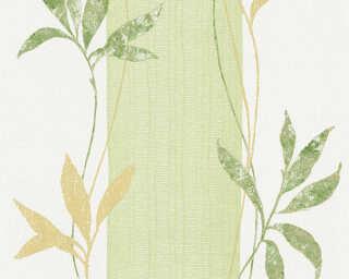 A.S. Création papier peint «Jungle, blanc, bronze, métallique, vert» 326542