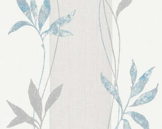 A.S. Création Wallpaper «Floral, Blue, Metallic, Silver, Yellow» 326543