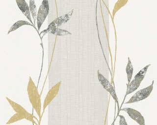 A.S. Création Wallpaper «Floral, Black, Gold, Metallic, Silver» 326544