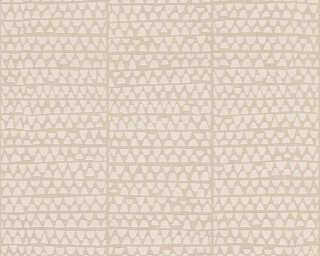 Lutèce Обои «Графика, Бежевые, Металлик» 326573