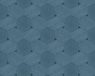 Lutèce Обои «Графика, Металлик, Синие» 326595