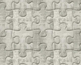 A.S. Création Wallpaper «Graphics, 3D, Grey, Metallic, Silver» 327034