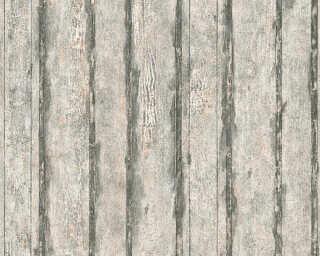 A.S. Création papier peint «Bois, Maison, beige, métallique, noir» 327062