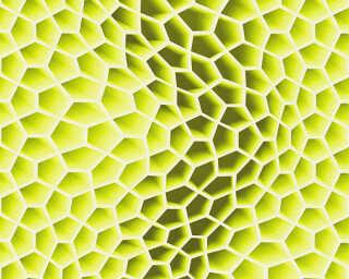 Livingwalls Tapete «Grafik, 3D, Grün, Metallics, Weiß» 327091