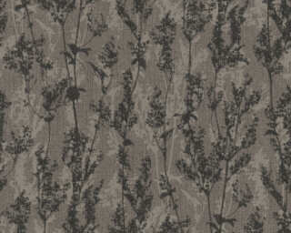A.S. Création Wallpaper «Flowers, Black, Brown» 327171