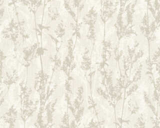 A.S. Création Wallpaper «Flowers, Cream, Grey» 327172