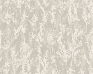 A.S. Création Wallpaper «Flowers, Cream, Grey» 327173