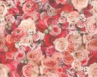 A.S. Création papier peint «Maison, Fleurs, rouge» 327223