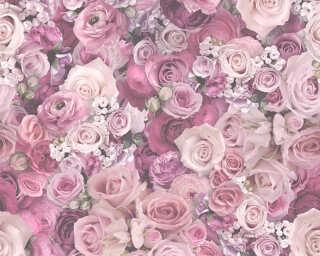 A.S. Création Tapete «Landhaus, Blumen, Violett» 327224