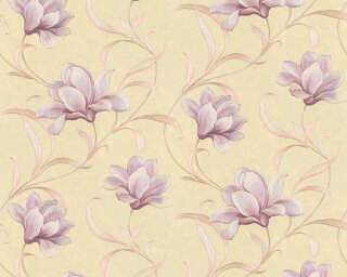 ORIGINALS Wallpaper «Floral, Beige, Gold, Metallic, Purple» 327481