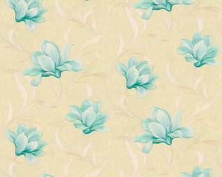ORIGINALS Wallpaper «Floral, Beige, Gold, Green, Metallic» 327484