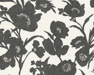 Esprit Home Обои «Цветы, Кремовые, Металлик, Серебро, Черные» 327511
