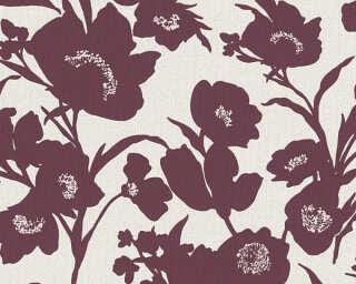 Esprit Home Tapete «Blumen, Beige, Creme, Rot, Silber» 327513