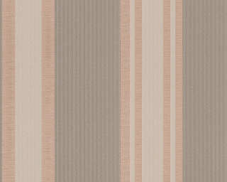 A.S. Création Wallpaper «Stripes, Beige, Brown, Gold, Metallic» 327542