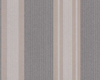 A.S. Création Wallpaper «Stripes, Beige, Grey, Metallic, Silver» 327543