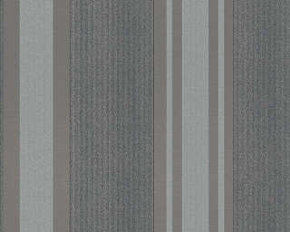 A.S. Création Wallpaper «Stripes, Black, Grey, Metallic, Silver» 327544